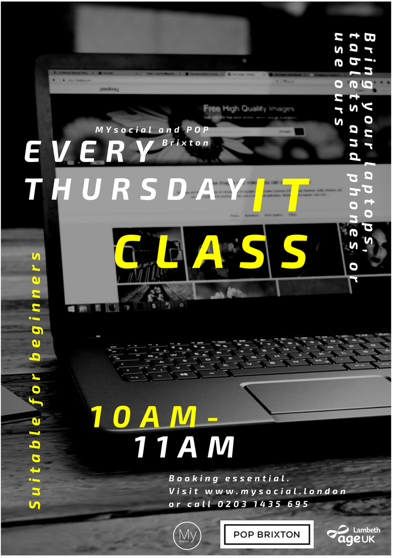 IT Class at Pop Brixton, Every Thursday, 10am - 11am, click for more details