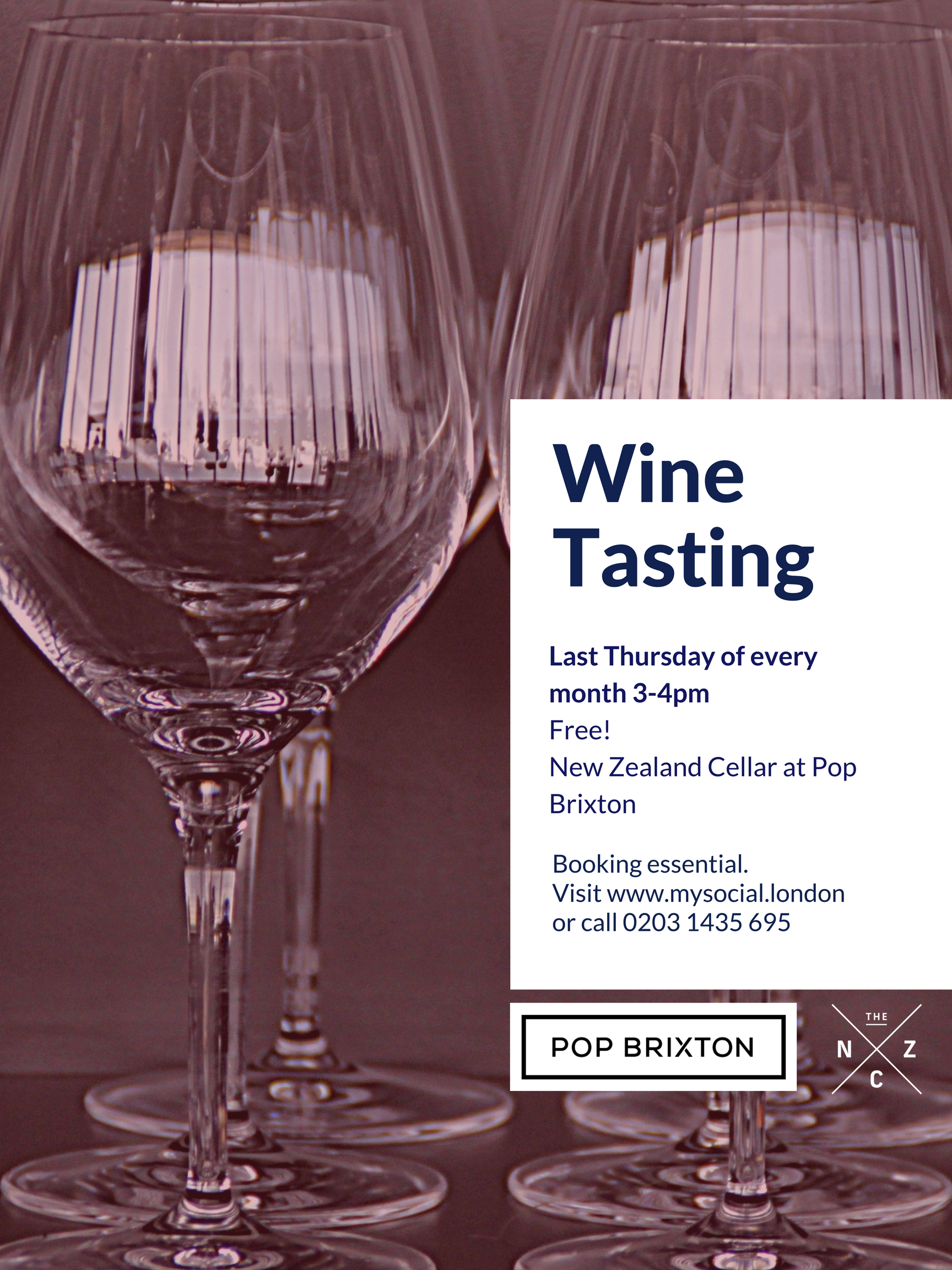 Wine tasting at Pop Brixton, click for more details
