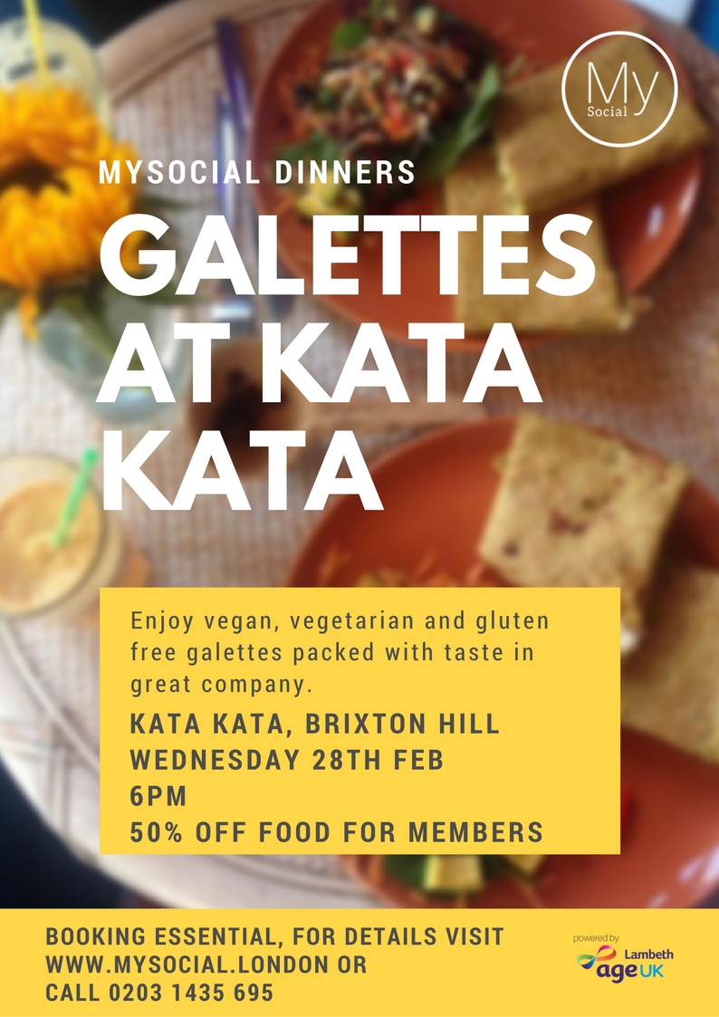 Galettes at Kata Kata, Brixton Hill, Weds 28th Feb, 6pm, 50% off food, click for details