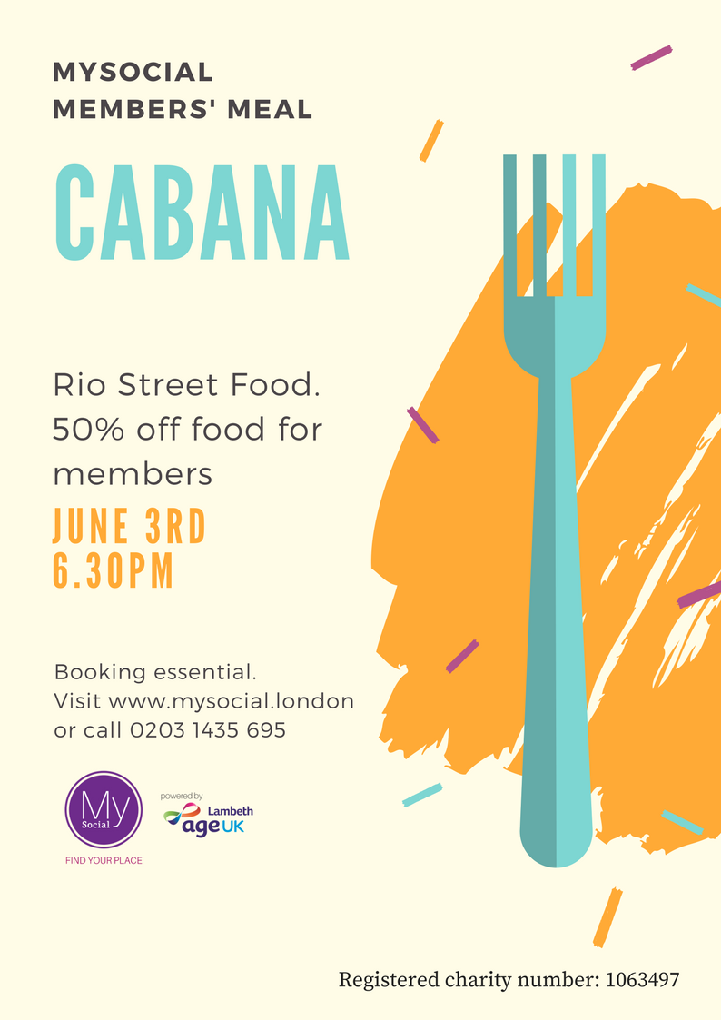 Dinner at Cabana, June 3rd, Click for more details
