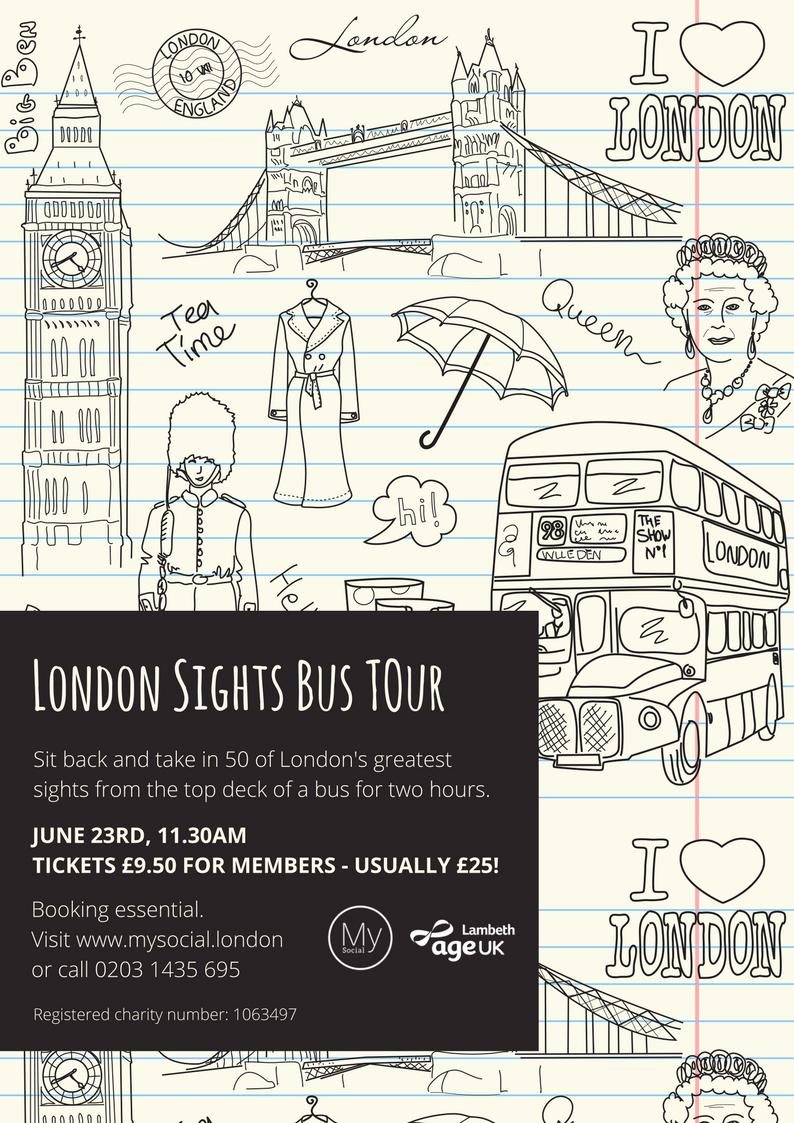 London Bus TOur, June 23rd, Click for more details