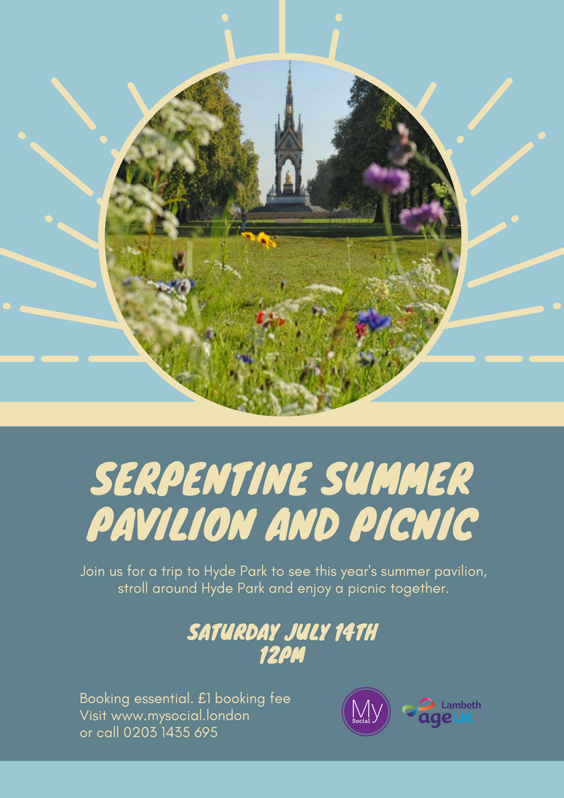Serpentine summer pavilion and picnic, Sat July 14th, click for more details