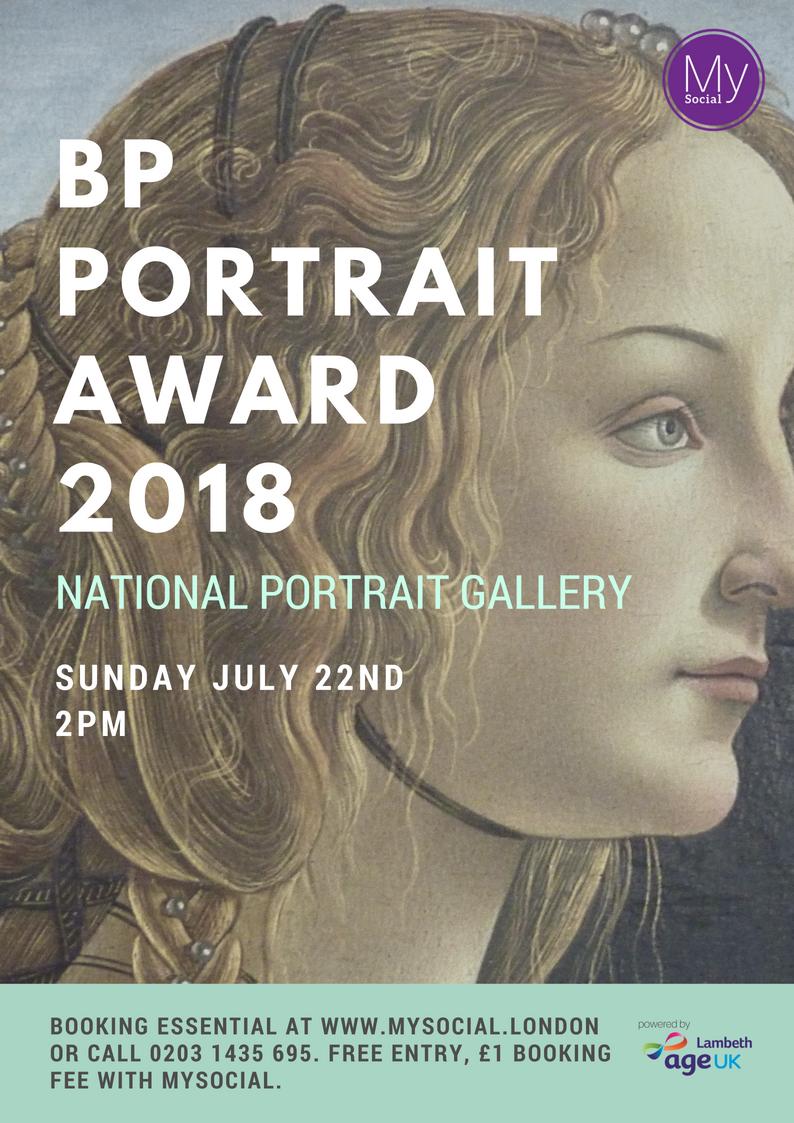 NPG Portrait award 2018, 22nd July, 2pm, click for more details