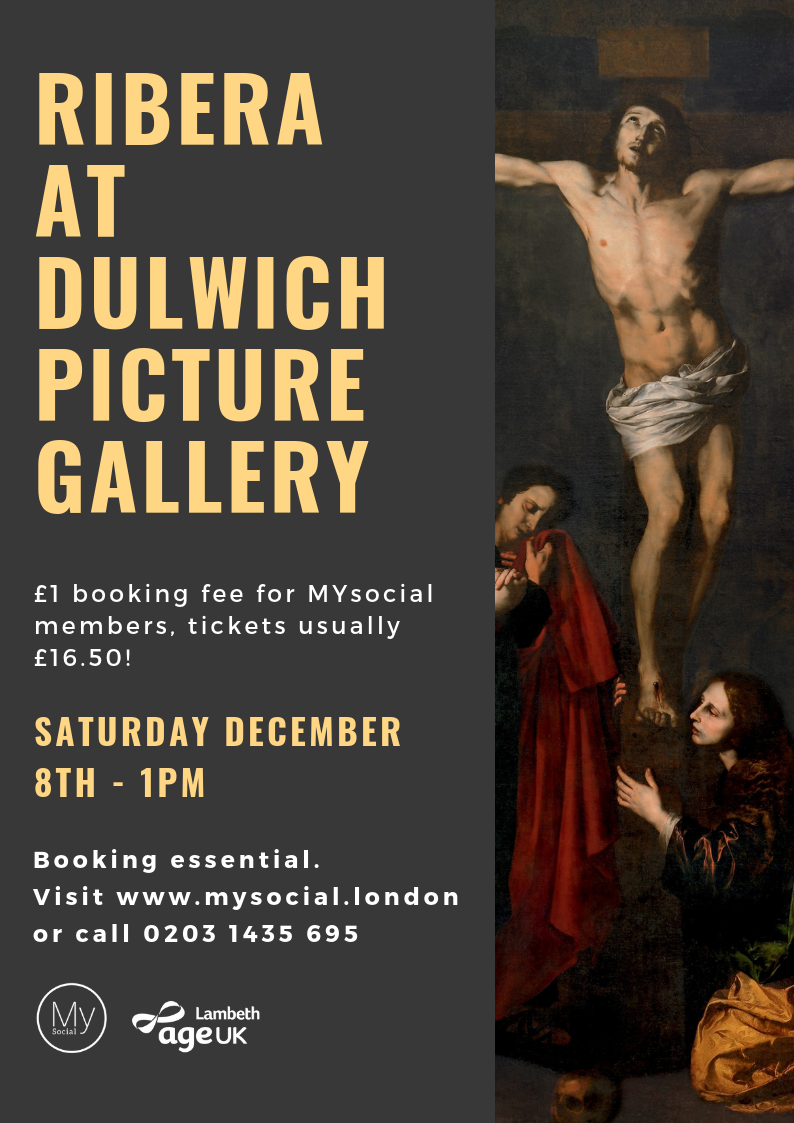 Ribera at Dulwich Picture Gallery, Sat Dec 8th, 1pm. Only £1 Booking fee, tickets usually £16.50. Booking essential, click for more details.